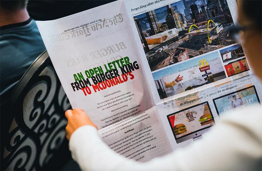 McWhopper 신문 광고 ⓒmumbrella