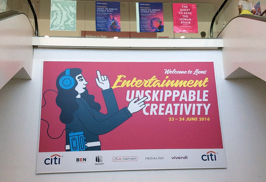 Lions Entertainment의 슬로건 'Unskippable Creativity'는 개인적으로 최고의 카피로 꼽고 싶다. © 이지홍