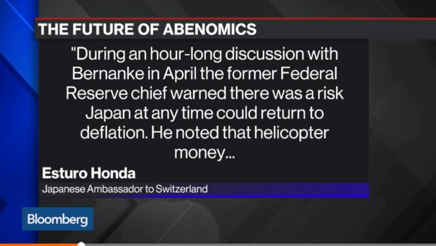 혼다 에츠로와 버냉키 간의 회담에서 언급된 '영구채 발행' © Bloomberg