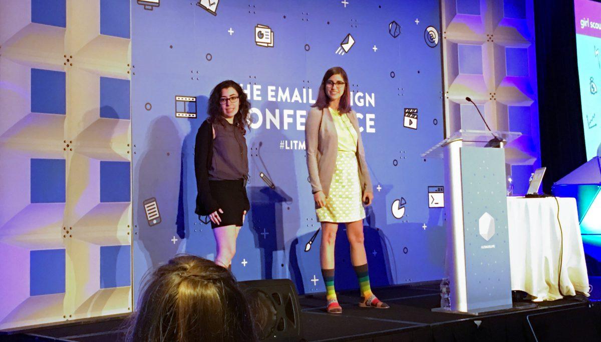 Rebecca Lewis, Girl Scouts Senior Ecommerce Designer(왼쪽)와 Kristin Bond Senior Email Marketing Manager.  ⓒ조성도