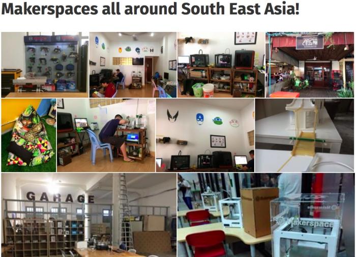 동남아시아 메이커 스페이스 네트워크 사이트의 소개 사진 ⓒ동남아시아 메이커스페이스 네트워크
