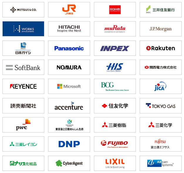 글로벌 기업 및 일본 대표 기업들이 후원을 하고 있습니다. ⓒ시루카페