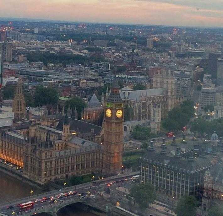 대관람차 런던 아이(London Eye)에서 찍은 풍경 ⓒ양승훈