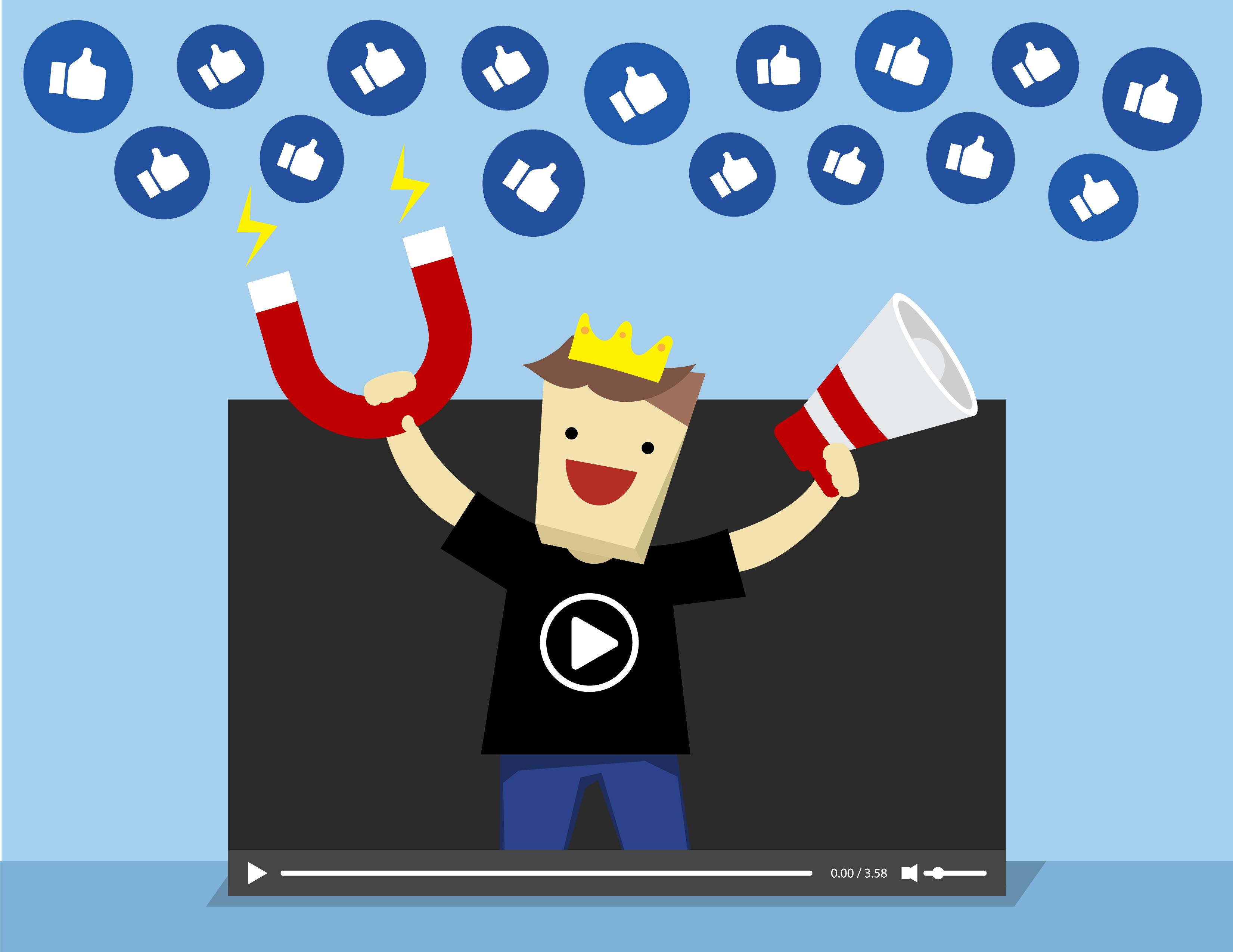 온라인에서 막강한 영향력을 가진 인플루언서. 한국에선 파워 블로거나 BJ, 유튜브 크리에이터가 이에 해당합니다.