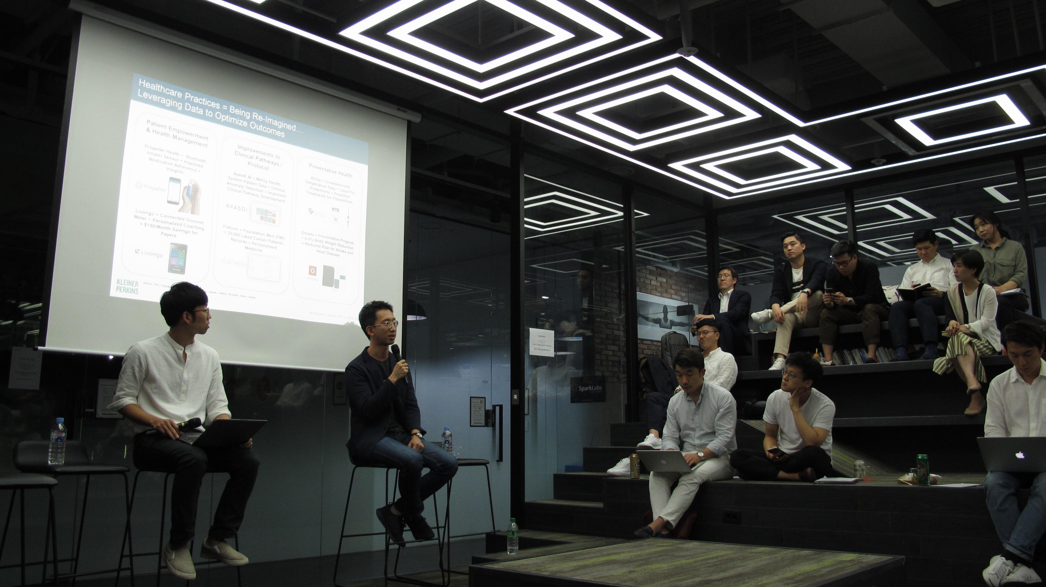 캡스톤파트너스 오종욱 팀장(왼쪽), 제노플랜 강병규 대표(오른쪽) ©손현