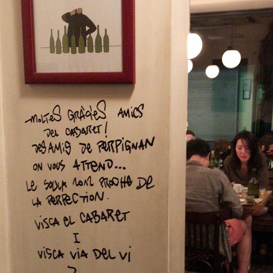 르 카바렛을 방문한 내추럴 와인 생산자들의 흔적 ©최빈