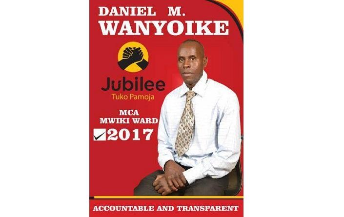 최근 마을 이장 선거에 나간 대니얼 ©Daniel Wanyoike