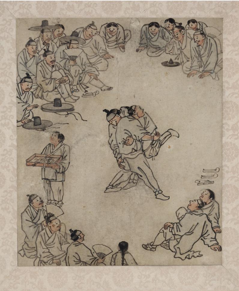 씨름, 「단원 풍속도첩」 ©국립중앙박물관