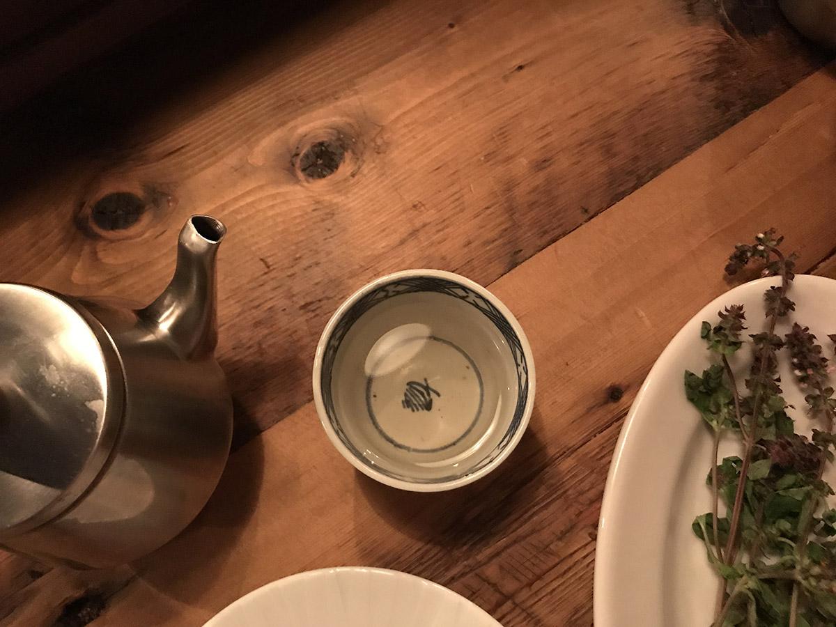 식사 마지막에 준비되는 프레시 허브티. 지난 2017년 8월에 방문했을 땐 타이 바질이었다. ©최빈