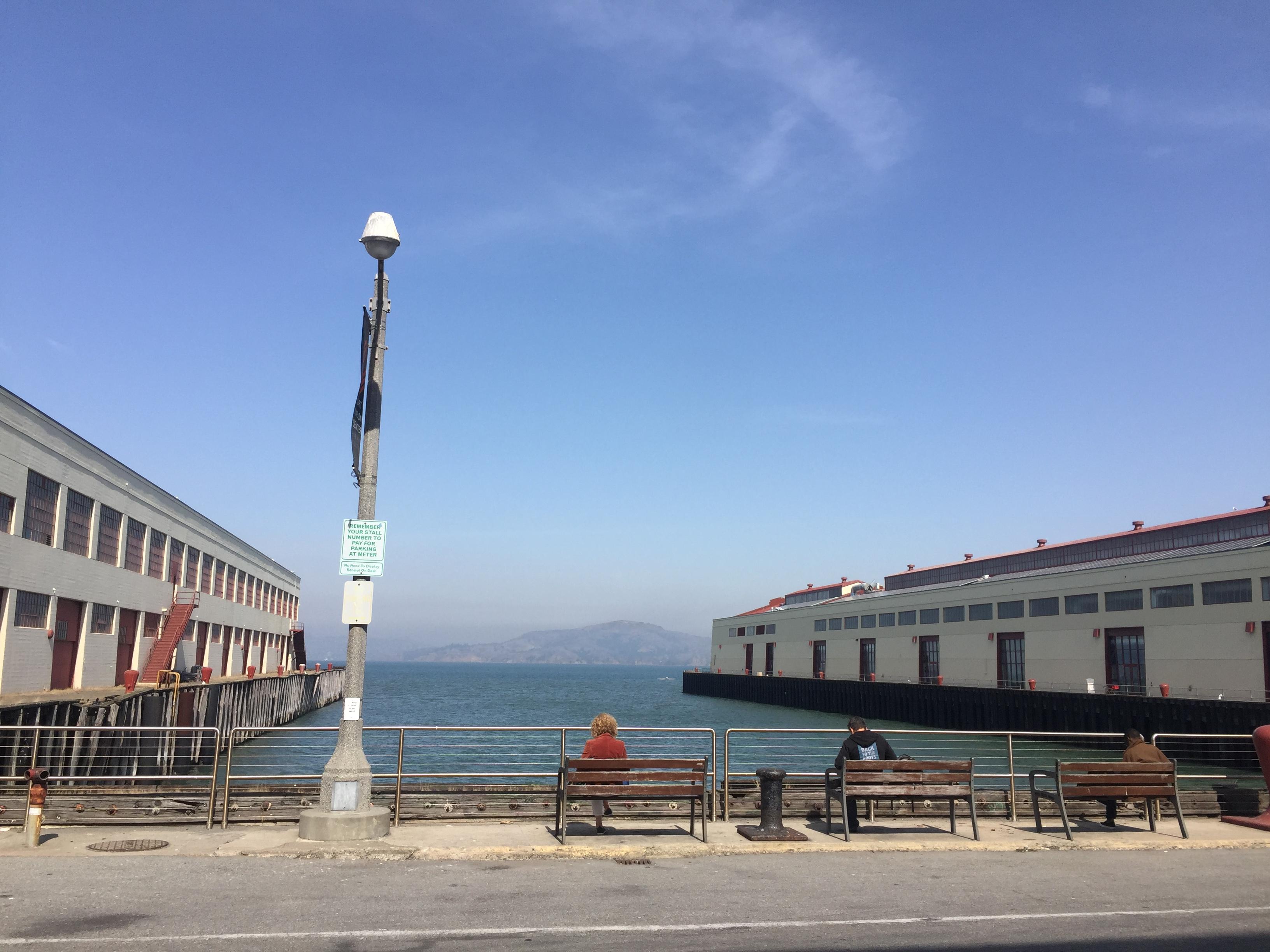 SOCAP이 열린 포트 메이슨 문화예술센터에서 본 샌프란시스코의 하늘 ©제현주