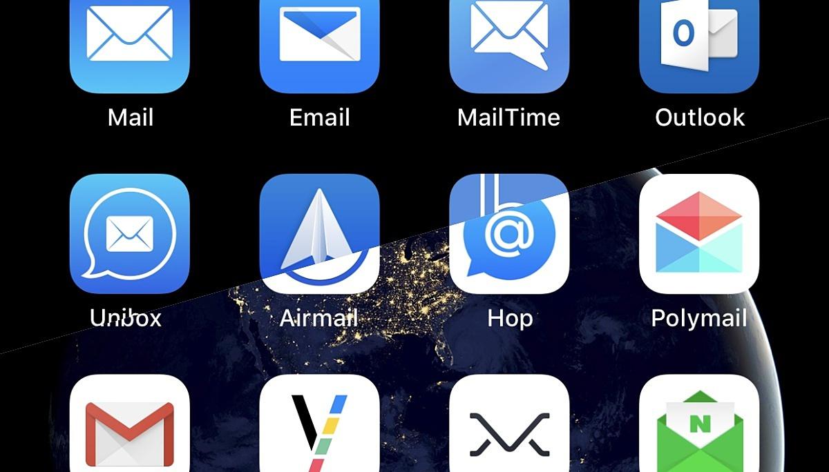 현재 내 스마트폰에 설치된 이메일 앱 일부
