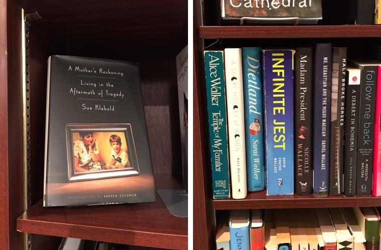 읽는 내내 눈물을 참지 못했던 '나는 가해자의 엄마입니다'(왼쪽)와 미국 거장 작가들의 소설들(오른쪽) ⓒ안유정