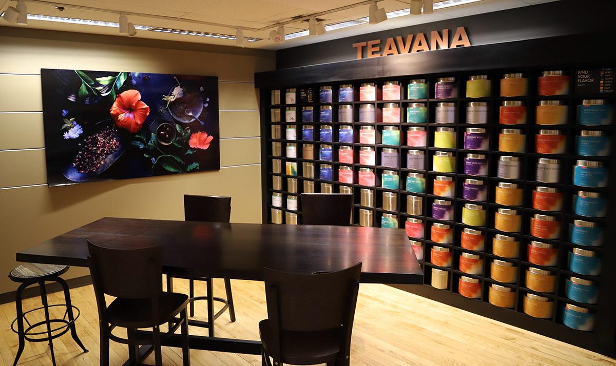 홍차 전문 브랜드 티바나의 제품 쇼룸 ©이은재