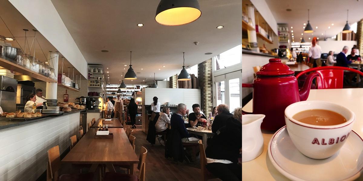 알비온에서 언제나 볼 수 있는 붉은색의 티 포트. 바운더리의 지역 정체성을 보여준다. 또한, 재스퍼 콘란이 디자인한 웨지우드 식기에 담겨 나오는 전통적인 영국식 아침을 맛볼 수도 있다. ©김양아