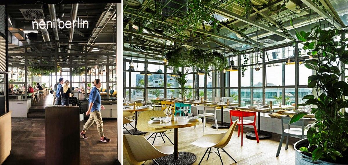 네니 베를린 입구 ©김양아 / 도시 정글 컨셉을 반영한 플랜테리어(planterior)가 특징인 네니 베를린 내부 ©25hours Hotel Bikini Berlin