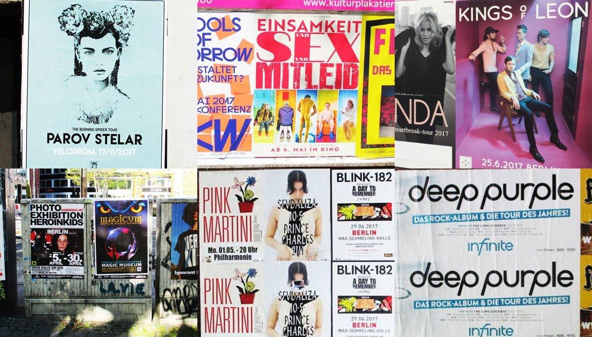베를린 거리에 붙어 있는 공연 포스터들 ⓒ차우진