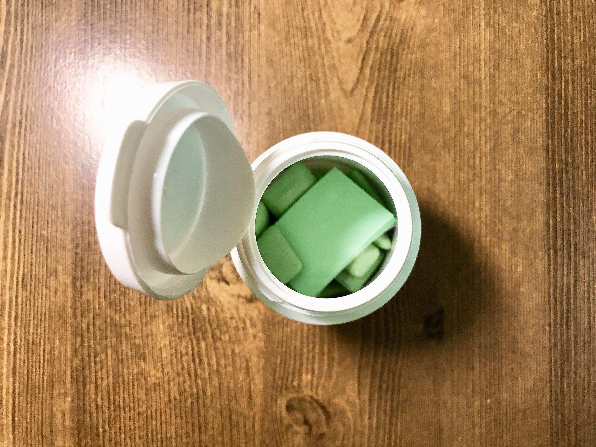 자일리톨 껌 통 안에 함께 들어 있던 종이 ©생각노트