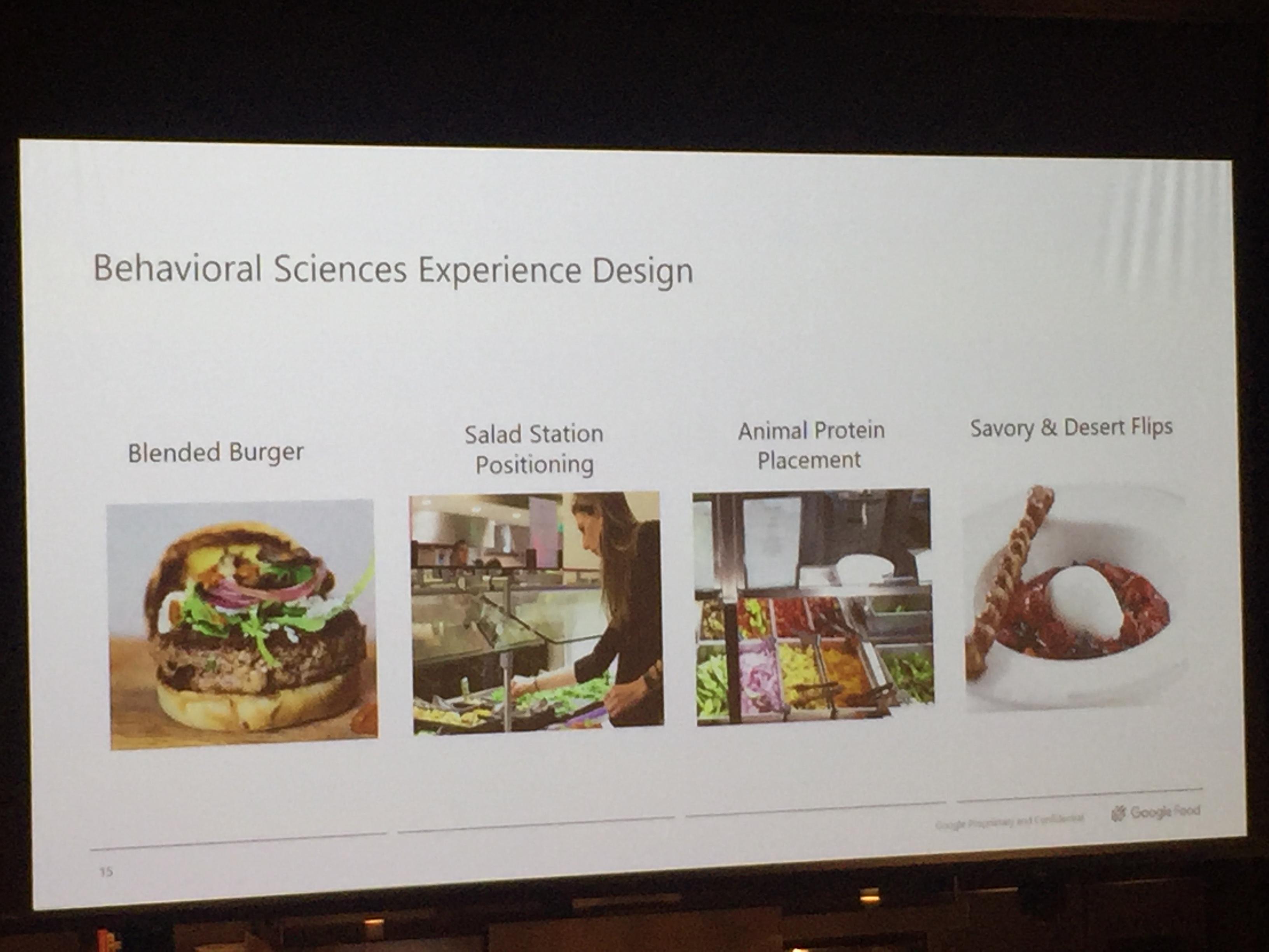 구글 푸드가 추구하는 경험 디자인: 직원들이 더 건강한 음식을 섭취하도록 유도하기 위해 메뉴 종류, 스테이션 배치 등에 행동 과학 모델을 적용하고 있다. ⓒ이분영