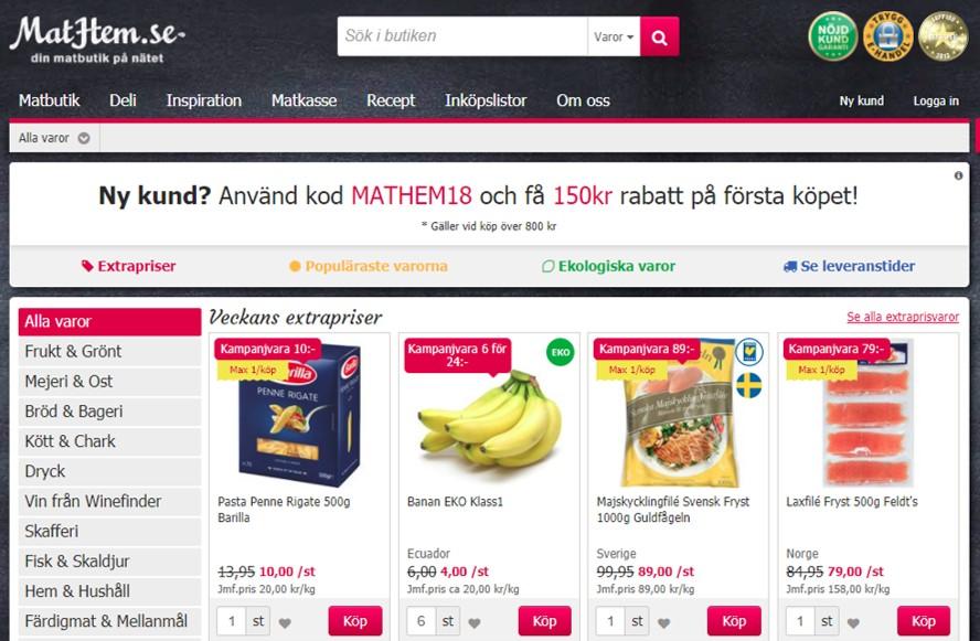 스웨덴 로컬 온라인 식료품 스타트업 Mathem은 차별적 서비스와 고객 대응력으로 단기간 내 시장점유율 1위로 올라섰다. ©Mathem
