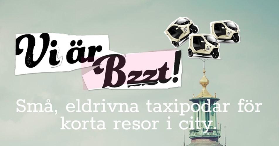 스웨덴의 삼륜택시 Bzzt는 스웨덴의 교통 문화 및 도시 모습을 바꾸고 있다. ©Bzzt