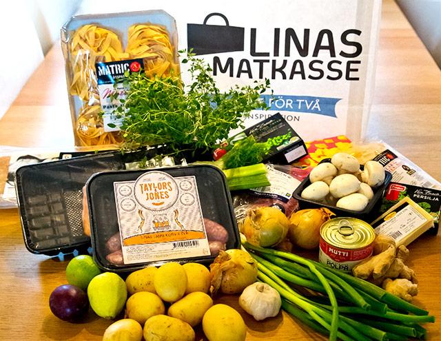 정기 배송을 신청하면 박스 안에 각각의 조리 단계를 사진과 함께 설명한 조리법과 요리에 필요한 양만큼 손질된 신선한 식재료를 배달해 준다. ©Linas Matkasse