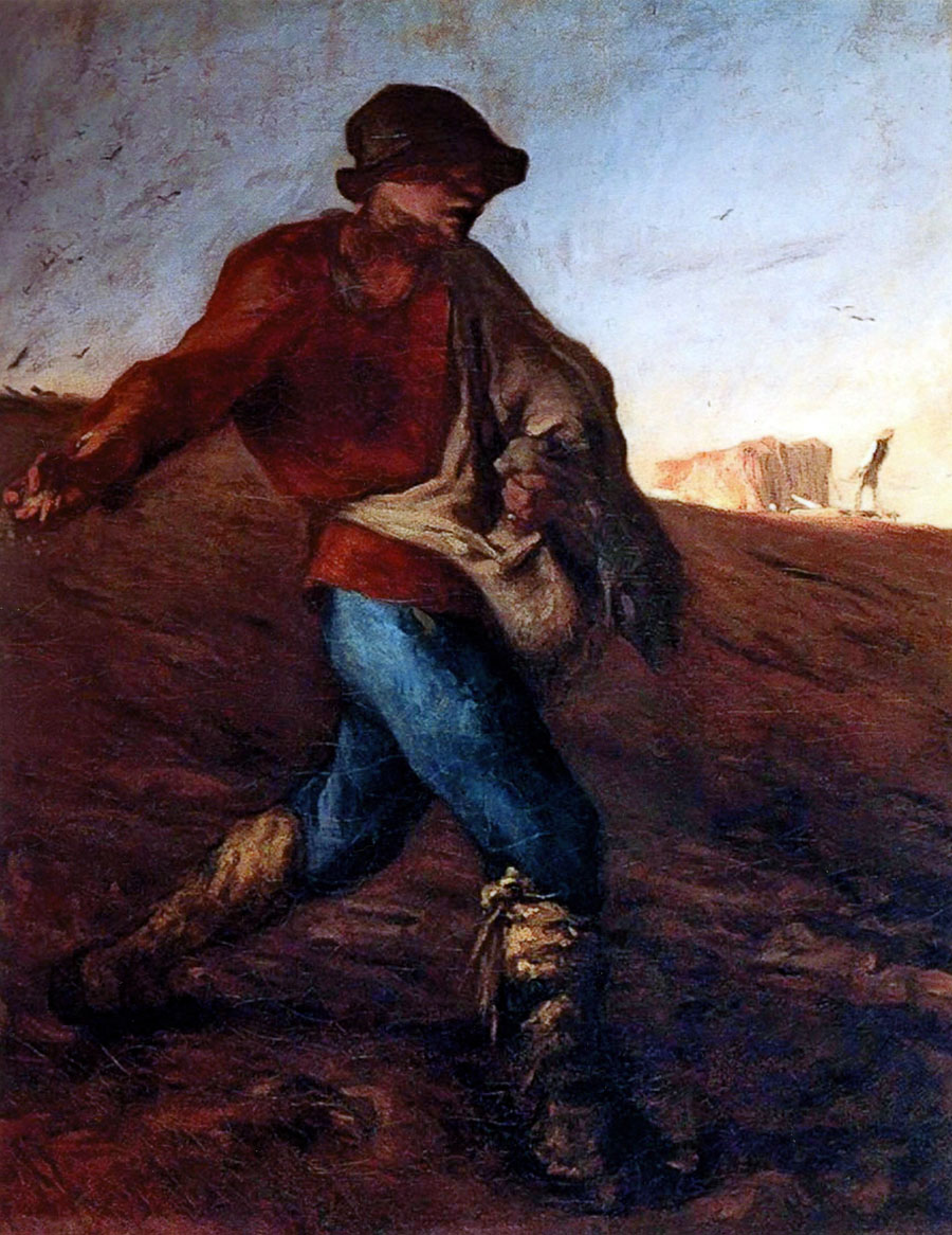 Jean-Francois Millet, The Sower(1850)