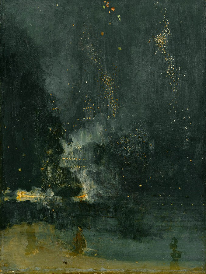 James McNeill Whistler, Nocturne in Black and Gold – The Falling Rocket(1875)