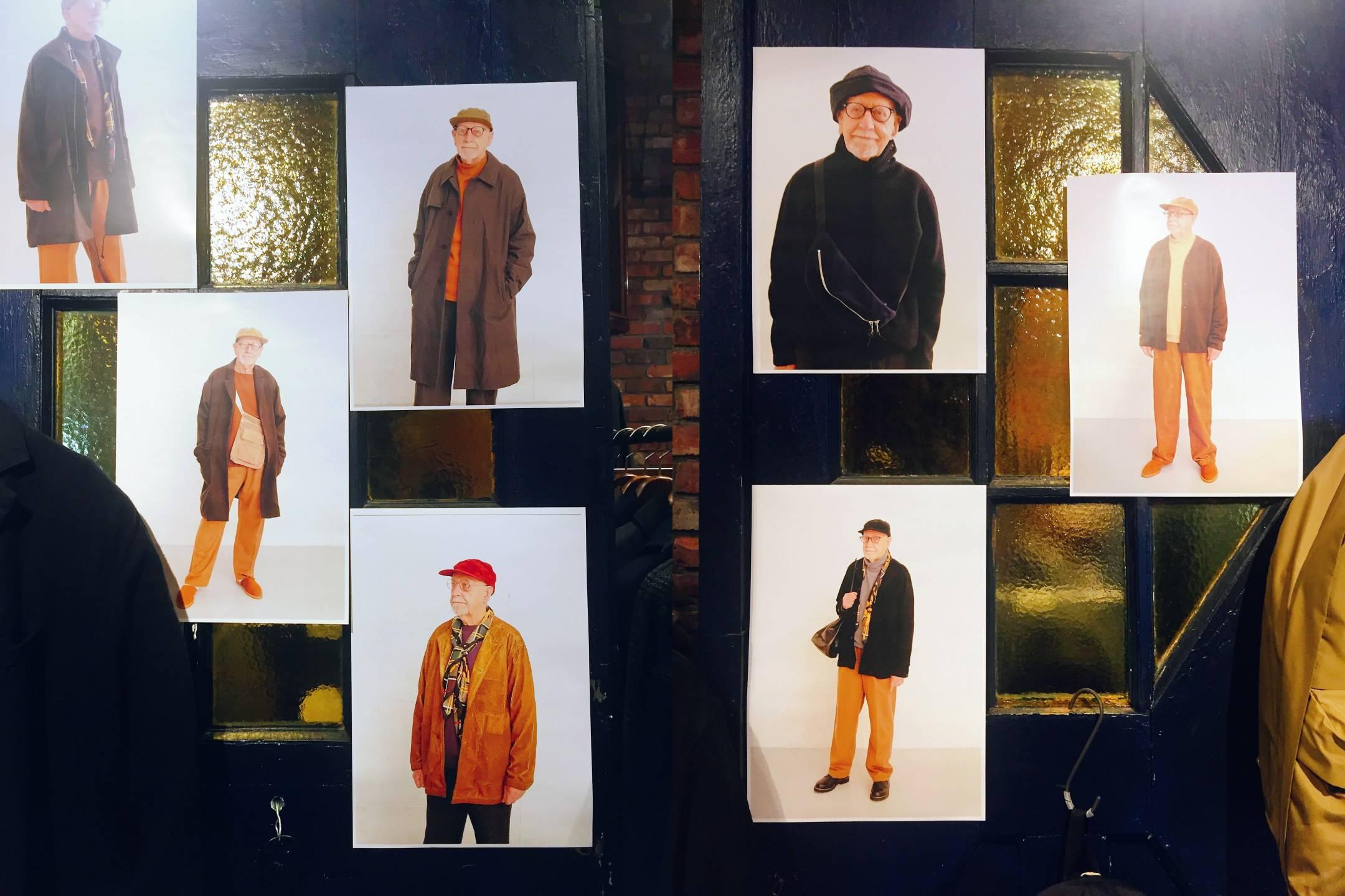 노년의 남성이 패션모델로 등장한 화보가 붙어 있는 매장 문 앞 ©생각노트