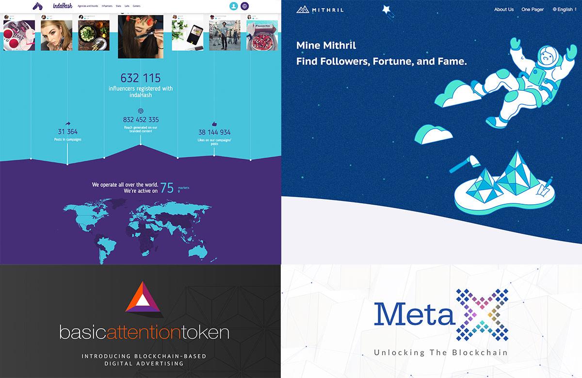 블록체인을 접목한 광고 프로젝트 사례들(Indahash, Mithril, BAT, MetaX)