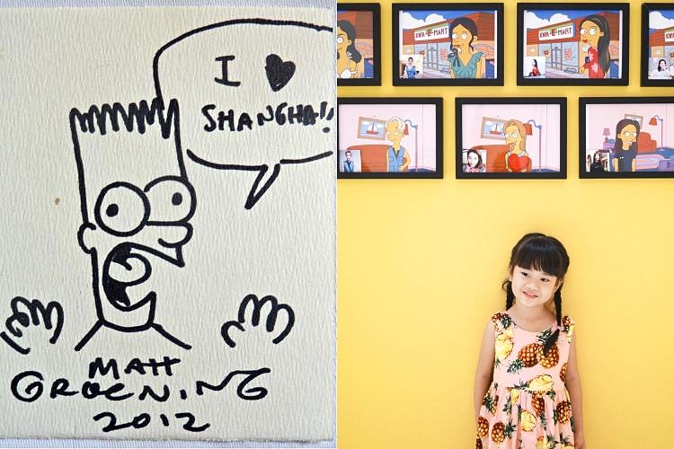 (좌) 당시 맷 그레이닝이 상하이 문학 페스티벌을 위해 그린 일러스트레이션 ©Matt Groening / (우) wang xi/Unsplash