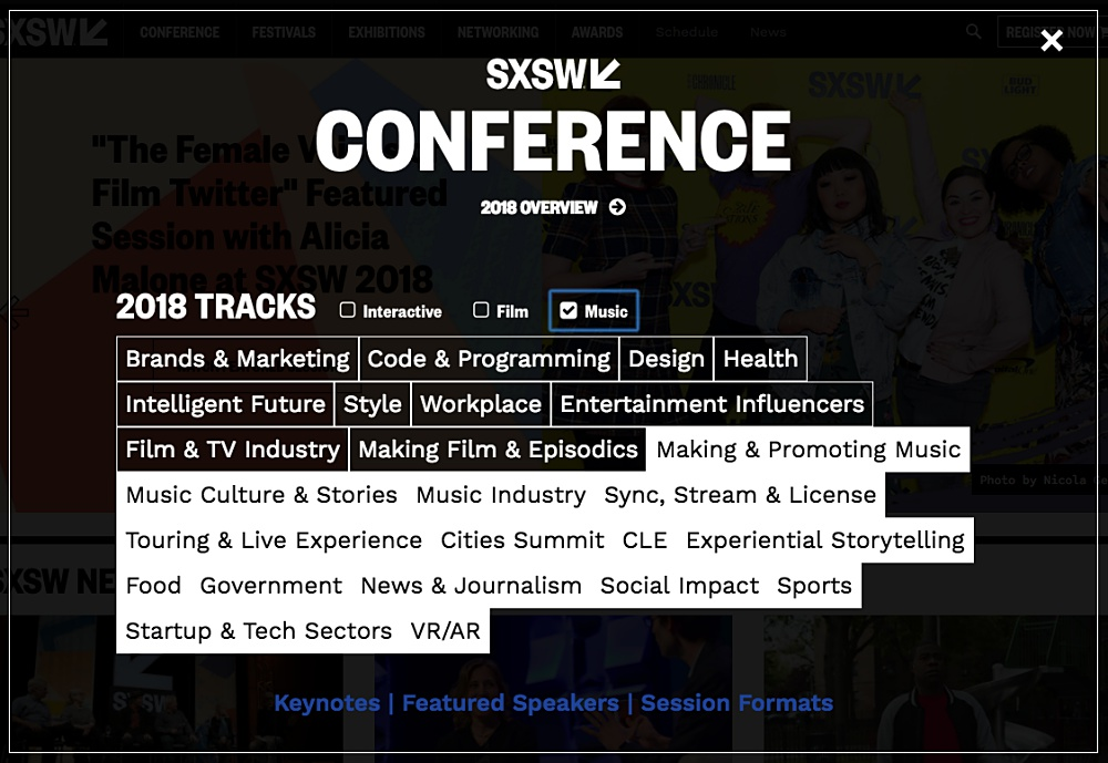 SXSW Music 2018 화면 캡처 ©SXSW 2018