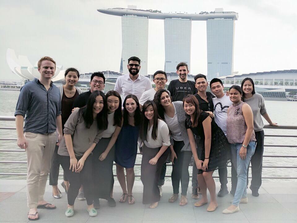 싱가포르에서 함께 한 팀원들과 ⓒ황수민