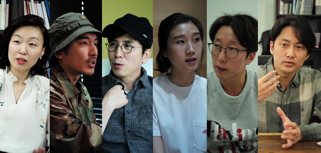 왼쪽부터 김현정 앵커, 신우석 감독, 박준화 PD, 박희연 PD, 김학준 CP, 이재문 대표 ⓒPUBLY