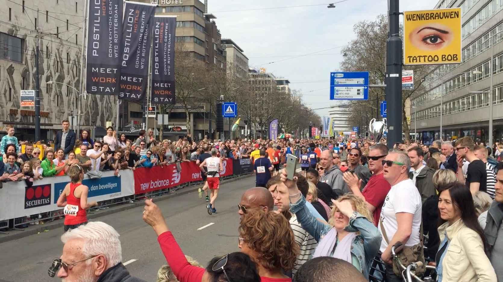 로테르담에서 열린 마라톤 경기 ©최두옥