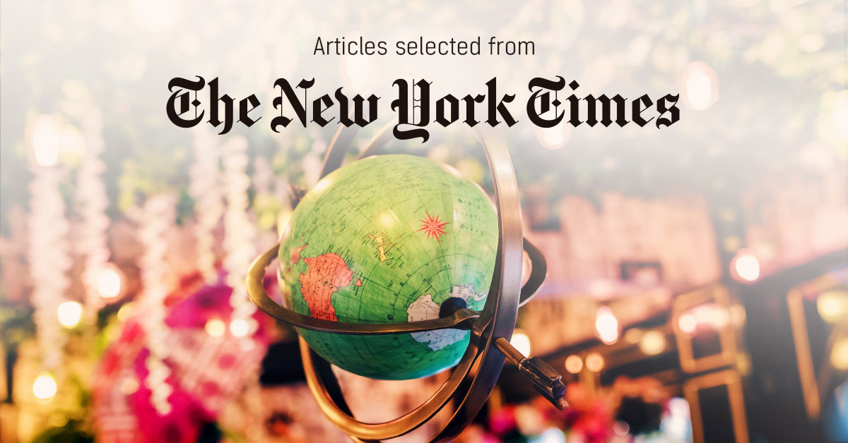 뉴욕타임스 - 퍼블리 큐레이터가 선정한 뉴스 [2019년 2월 2주]