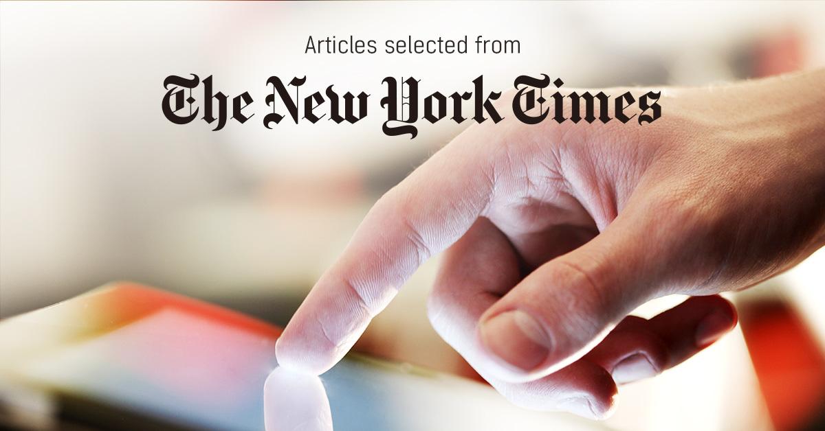 뉴욕타임스 - PUBLY 큐레이터가 선정한 뉴스 [2019년 2월 4주]