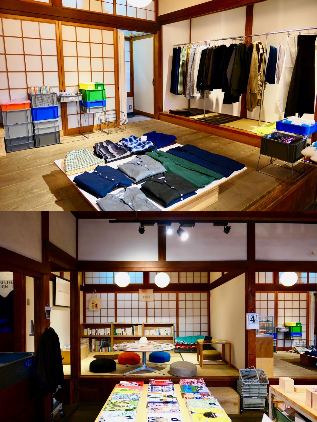 스님의 숙소로 만든 공간을 그대로 활용해 다다미방에 상품을 진열해놓았다. ©생각노트
