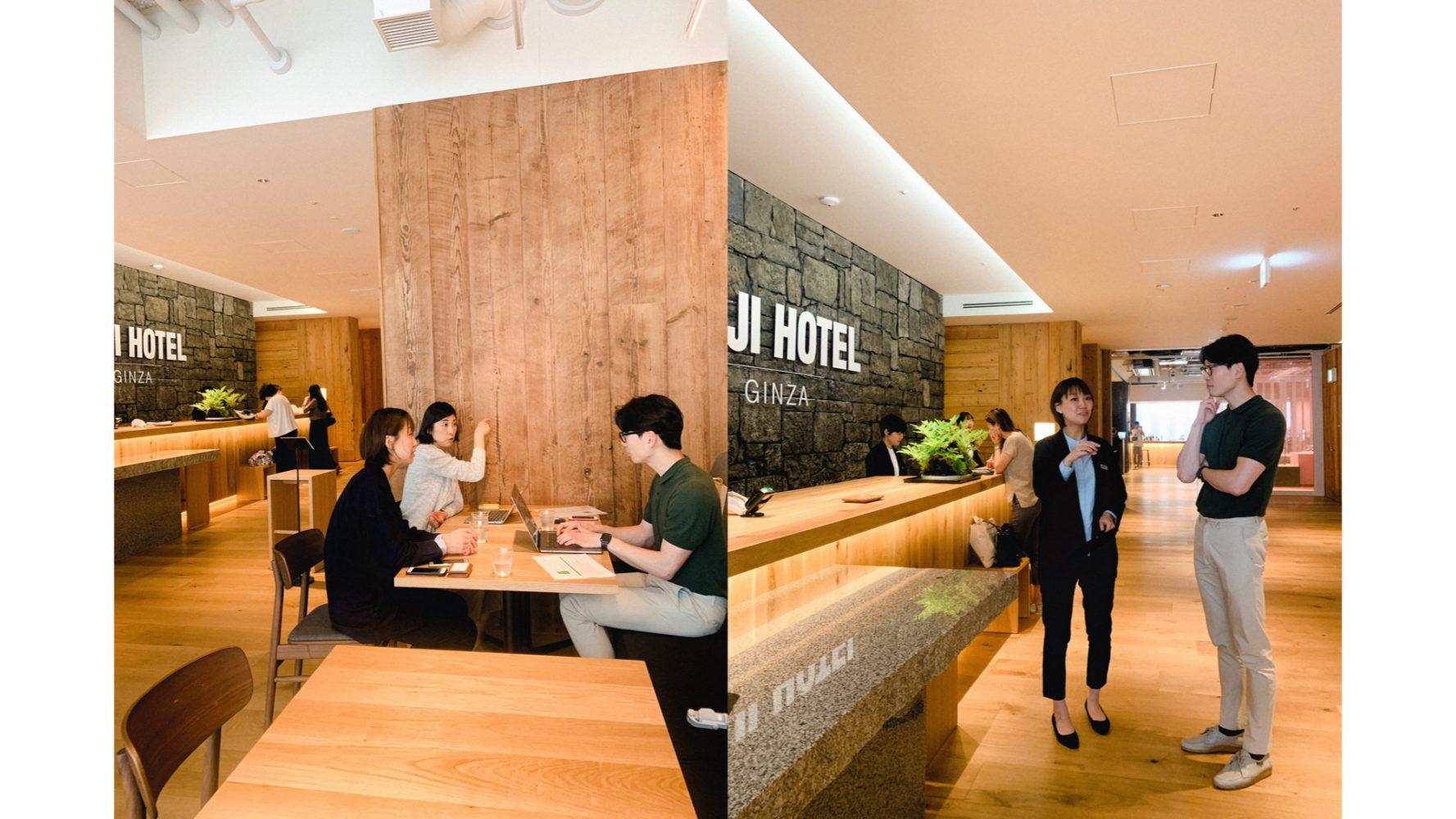 무지 호텔 긴자 운영을 총괄하는 후쿠시마 하루카 총지배인 인터뷰는 무지 호텔 긴자 일식당 '와'에서 진행했다. ©이승준