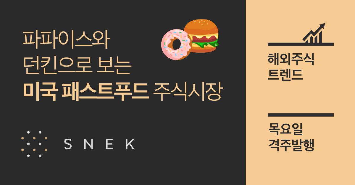 [해외주식 트렌드] 파파이스와 던킨으로 보는 미국 패스트푸드 주식시장