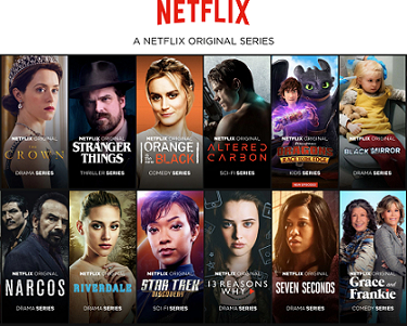 넷플릭스가 자체 제작한 오리지널 콘텐츠. 이처럼 넷플릭스는 기간에 구속되지 않는 자체 콘텐츠 확보에 집중하고 있다. ⓒ한스미디어